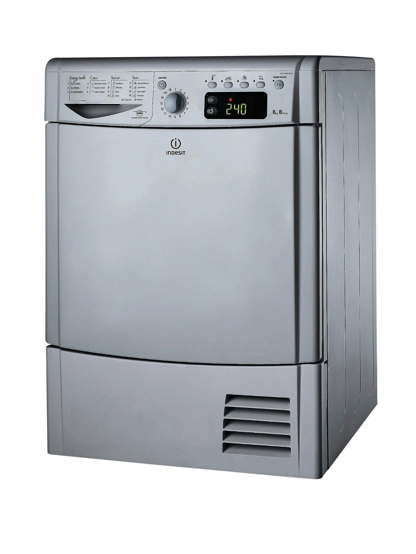 IDCE8450BSH 8kg Load Condenser Dryer - Silver