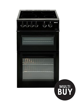 beko-bdvc563ak-50cm-double-oven-electric-cooker-with-connection-black