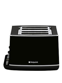hotpoint-tt44eab0uk-stainless-steel-4-slot-toaster-black