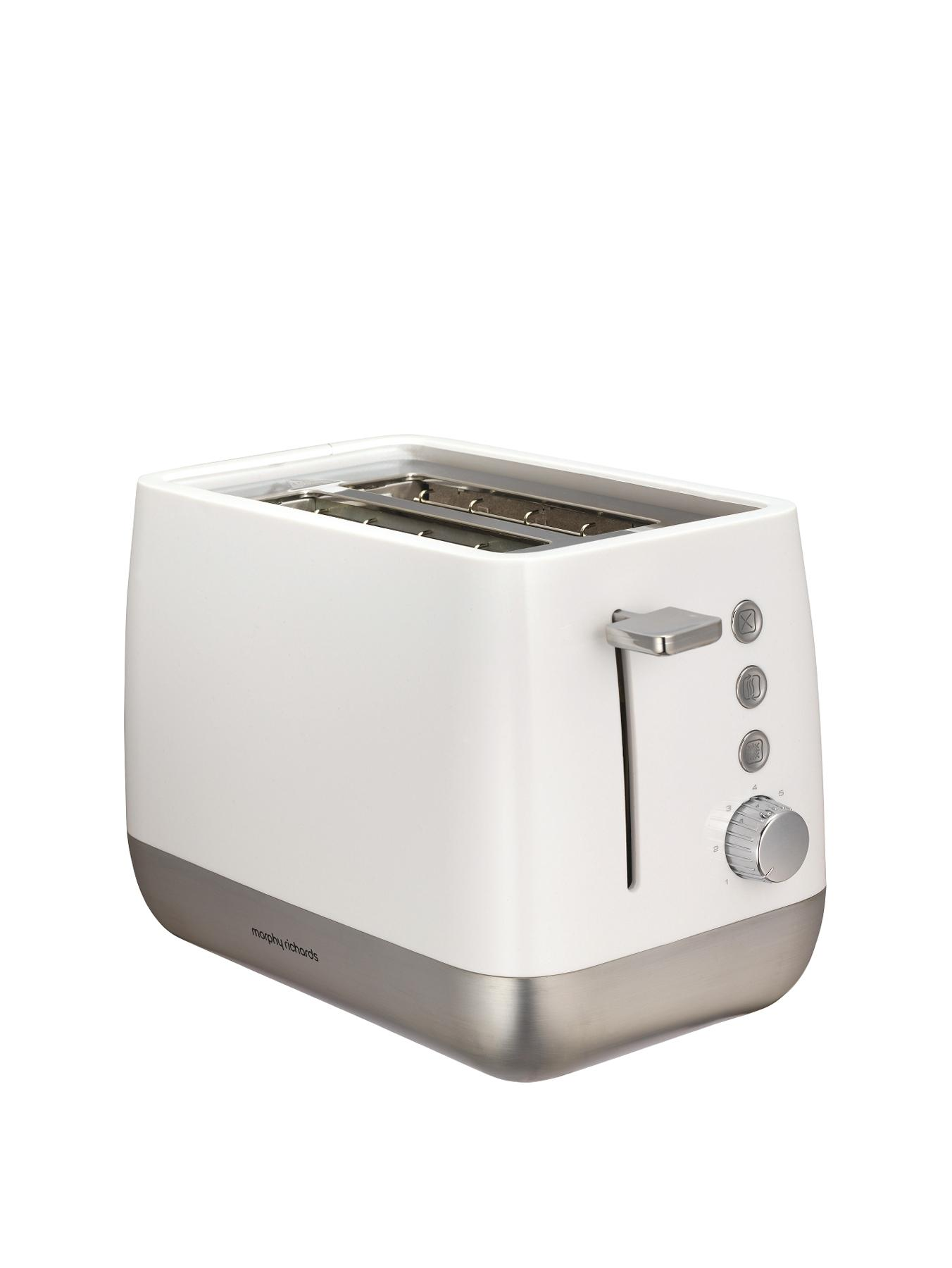 221151 Chroma 1000 Watt 2 Slice Toaster - White