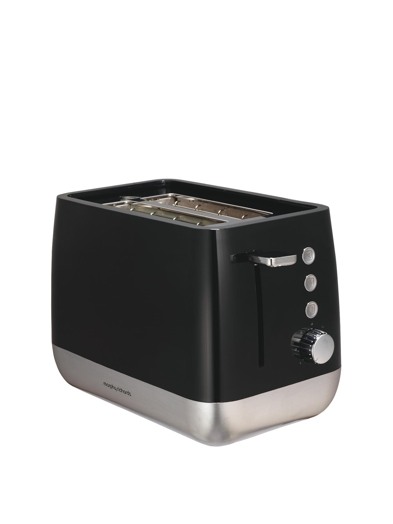 221152 Chroma 1000 Watt 2-Slice Toaster - Black