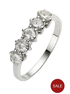 moissanite-9-carat-white-gold-1-carat-5-stone-eternity-ring