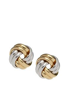 love-gold-9-carat-2-colour-gold-8-mm-knot-stud-earrings