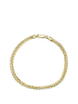 love-gold-9-carat-yellow-gold-fancy-wheatchain-bracelet