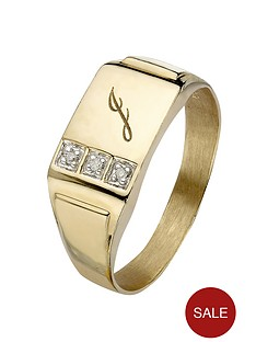 love-gold-9-carat-yellow-gold-3-point-diamond-set-initial-mens-signet-ring