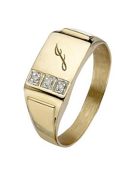 love-gold-9-carat-yellow-gold-3-point-diamond-set-initial-mens-signet-ring