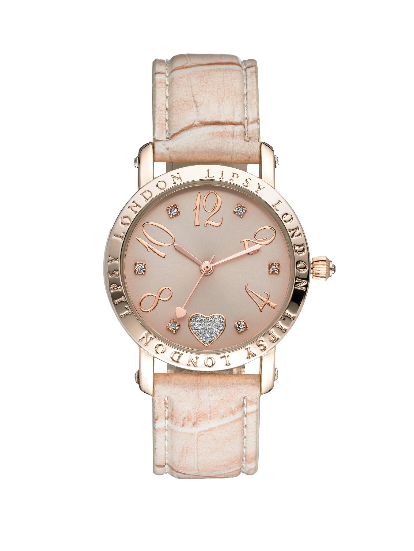Pink Tone Dial And Nude Strap Ladies Watch at Littlewoods
