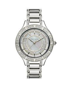 karen-millen-ladies-silver-tone-and-crystal-bezel-bracelet-watch