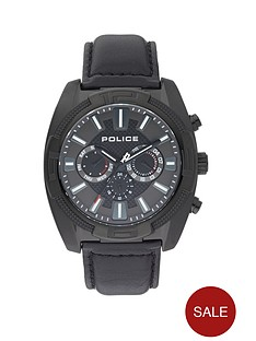 police-revolt-gun-multi-dial-and-black-leather-strap-mens-watch