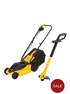 precision-1000-watt-lawn-mower-and-250-watt-grass-trimmer