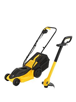 precision-1000-watt-lawn-mower-and-250-watt-grass-trimmer
