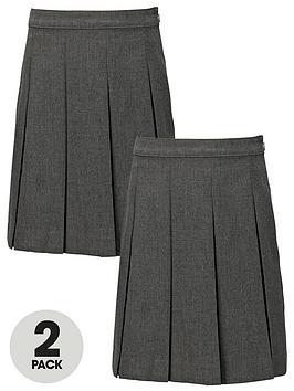 top-class-girls-school-uniform-woven-standard-skirts-2-pack