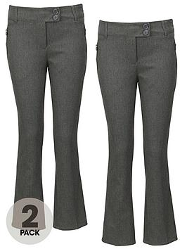 top-class-girls-woven-slim-fit-school-trousers-2-pack