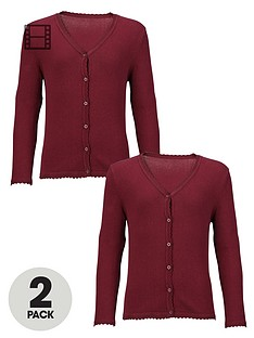 top-class-girls-school-uniform-cotton-rich-cardigans-2-pack