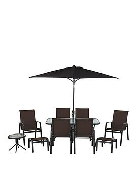 Versailles 11Piece Dining Set  Brown