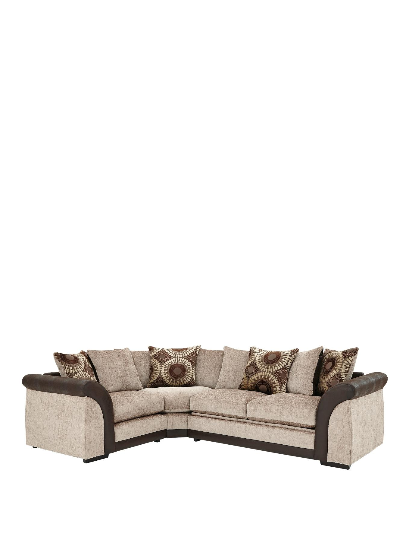 Deane LeftHand Corner Group with Sofa Bed BlackChocolate