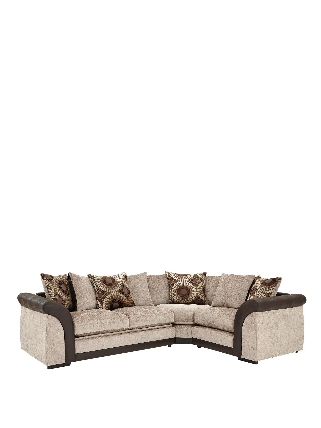 Deane RightHand Corner Group with Sofa Bed BlackChocolate