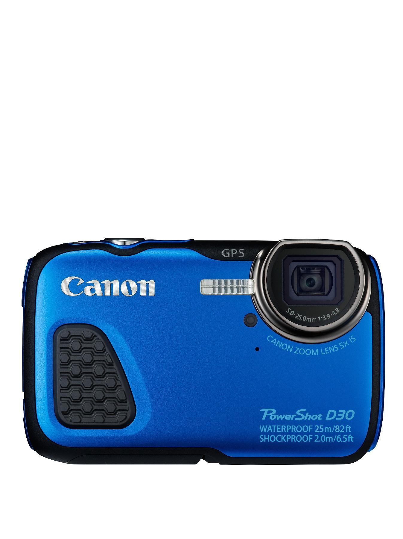 Canon D30 PowerShot 12 Megapixel Waterproof Digital Camera - Blue