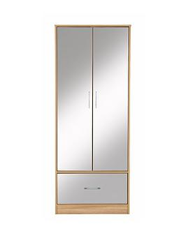 kidspace-ohio-2-door-1-deep-drawer-wardrobe-mirrored