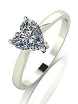 18-Carat White Gold, 1-carat Heart Cut Engagement Ring