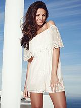 Michelle Keegan Bardot Lace Playsuit