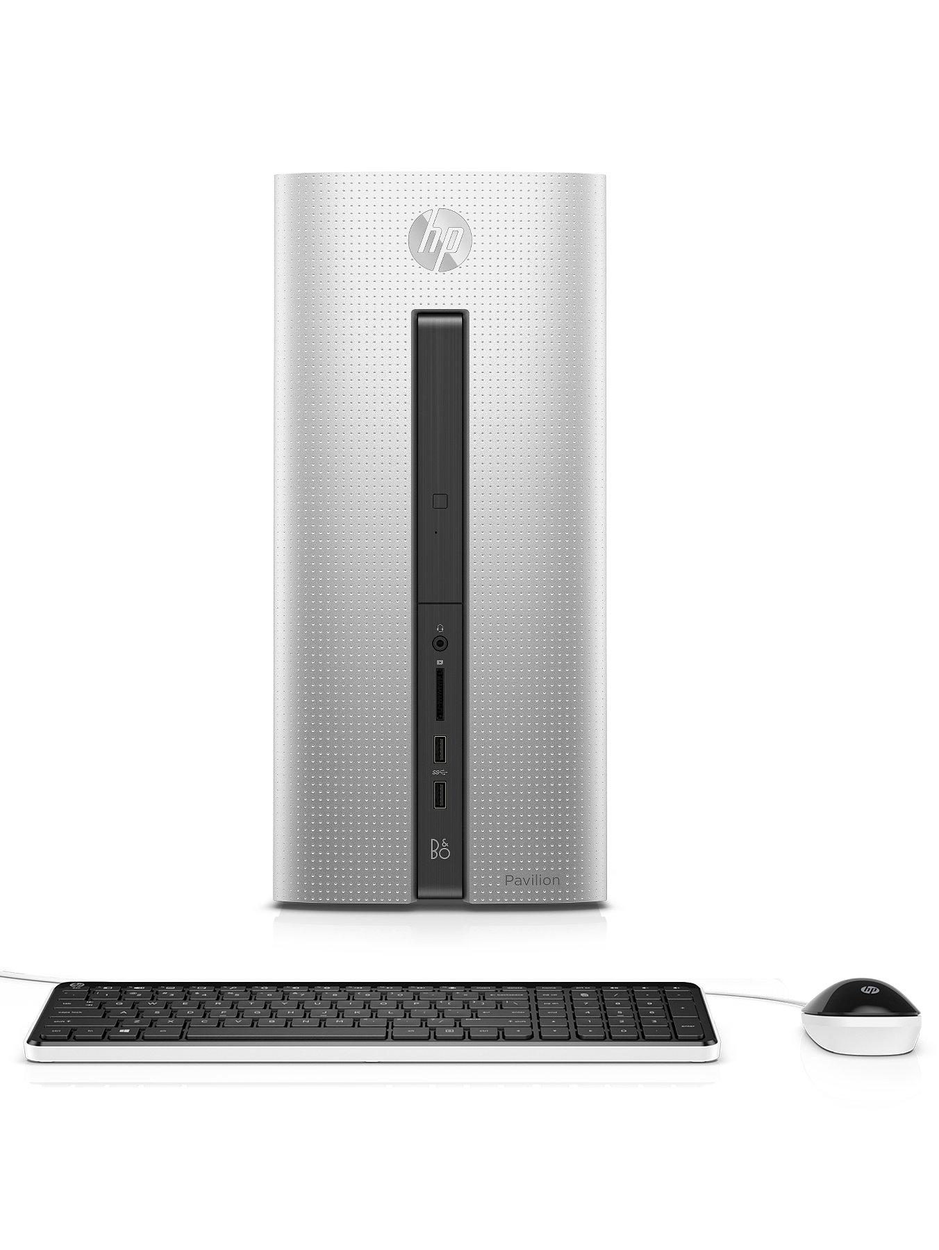 Pavilion 550030na Intel Core i3 Processor 8Gb RAM 1Tb HDD Storage Desktop Base Unit Intel HD with Optional Microsoft Office 365 Personal  Natural Silver