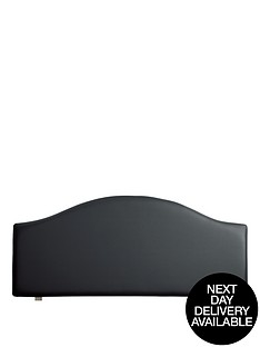 faux-leather-curved-headboard