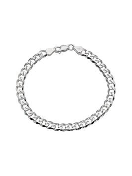 love-silver-silver-12-oz-mens-curb-bracelet
