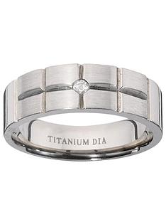 titanium-diamond-set-fancy-cut-mens-ring