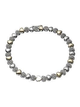 the-love-silver-collection-9-carat-gold-and-silver-diamond-set-bracelet