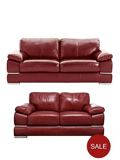 Primo Italian Leather 3 Seater 2 Sofa Set And Save