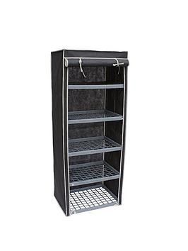 new-ideal-5-shelf-canvas-storage-unit-black