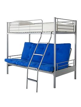 Montana Bunk Bed With Double Futon Underbed And Optional Mattress  Bunk Frame Futon And Standard Mattress