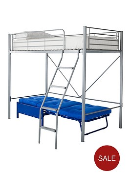 kidspace-montana-high-sleeper-with-single-futon-underbed-and-optional-mattress