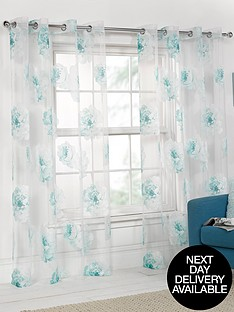 floral-printed-eyelet-voile-panel