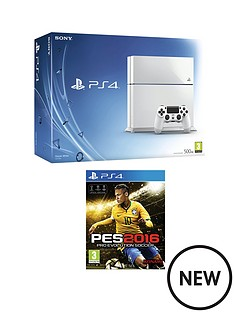 playstation-4-500gb-white-console-with-pro-evolution-soccer-2016-and-optional-12-months-playstation-plus-and-extra-controller