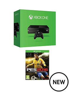 xbox-one-500gb-console-with-pro-evolution-soccer-2016-and-optional-12-months-xbox-live-and-extra-controller