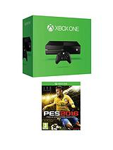 500Gb Console with Pro Evolution Soccer 2016 and Optional 12 Months Xbox Live and/or Extra Controller
