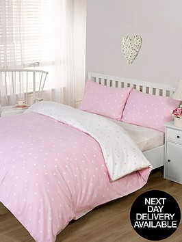 brushed-cotton-printed-spot-fitted-sheet-pink
