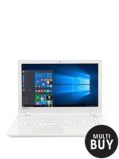toshiba-l50-c-1pe-intelreg-pentiumreg-quad-core-processor-4gb-ram-1tb-hdd-storage-156-inch-laptop-with-optional-microsoft-office-365-white