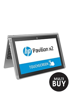 hp-pavilion-x2-10-n100na-intelreg-atomtrade-processor-2gb-ram-32gb-ssd-storage-10-inch-touchscreen-2-in-1-laptop-with-optional-microsoft-office-2016