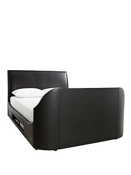 Maximus Tv Bed Frame   Bed Frame With Platinum Pocket Mattress And Next Day Delivery