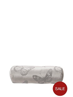 by-caprice-butterfly-jacquard-filled-bolster-cushion
