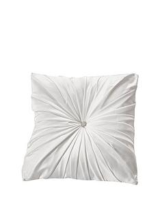 by-caprice-diamante-jewel-satin-pleated-filled-cushion-white