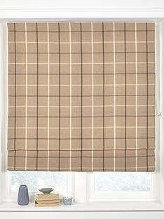 made-to-measure-croft-check-roman-blinds-latte