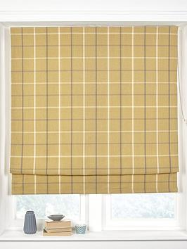 made-to-measure-croft-check-roman-blinds-mustard