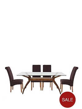 knox-180-cm-dining-table-4-brook-plain-fabric-chairs