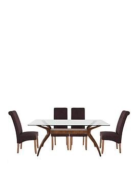 knox-180cm-table-with-4-brook-plain-fabric-chairs