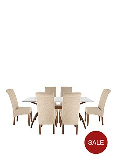 knox-180cm-table-with-6-brook-plain-fabric-chairs