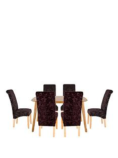 charles-150cm-table-with-6-brook-floral-fabric-chairs